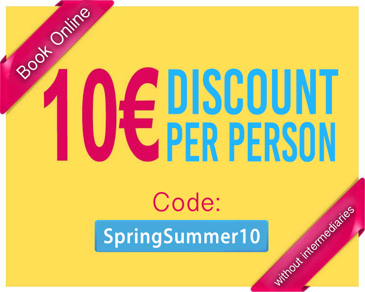 10 euros discount booking online