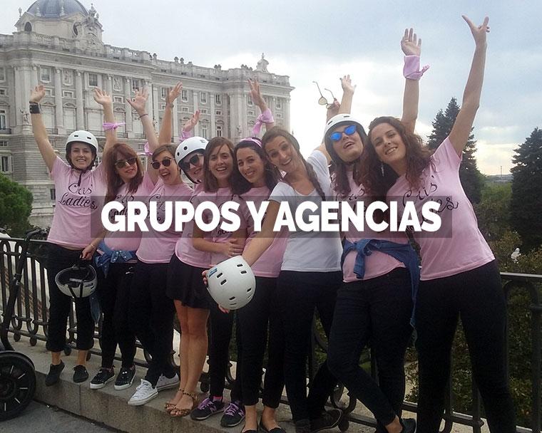 Segway Madrid grupos y agencias